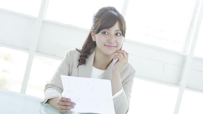 履歴書を見て採用を決めた女性