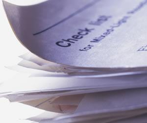 就活用の書類の山
