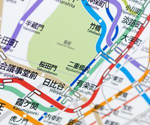 東京都内の路線図