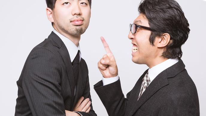 上司に何か言われても無関心なゆとり社員