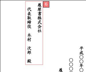 退職願の社名と宛名の具体例