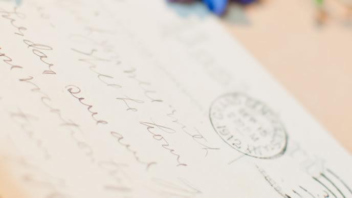 海外から着た手紙