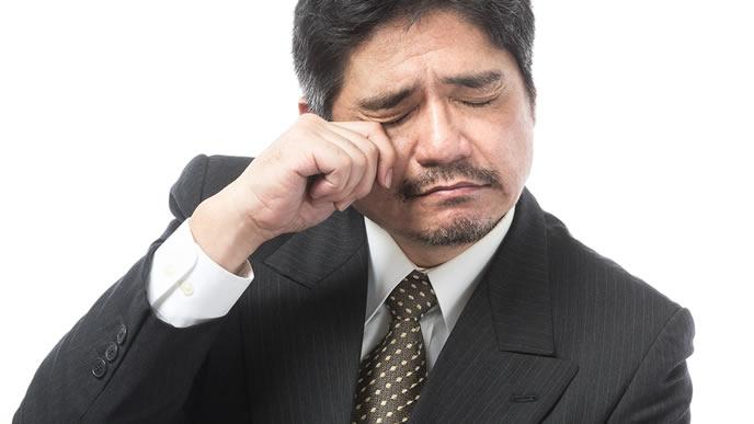 面接で落ちて泣いてしまった男性