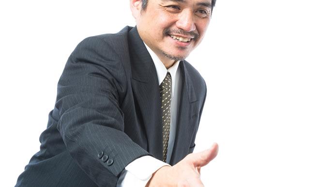 握手を求めてきた男性上司