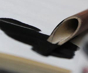 半紙にこぼれた墨汁