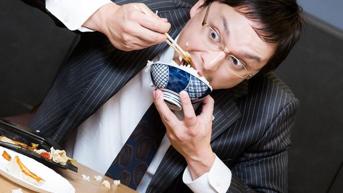 食べ方が汚い男性