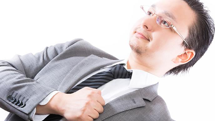 夢を持って仕事に取り組む男性