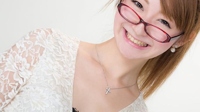 眼鏡が似合う主婦