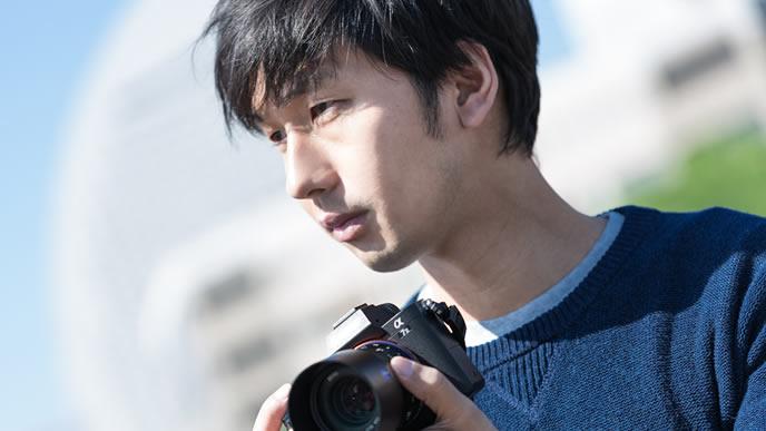 劣等感の強いカメラが趣味の男性