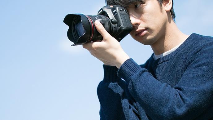 趣味がカメラの男性