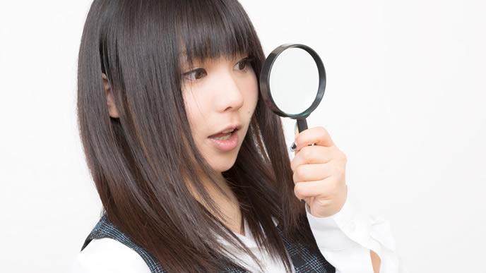 自分にあった髪型を探している女性