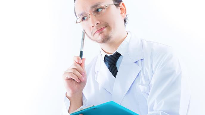 適職診断をする男性