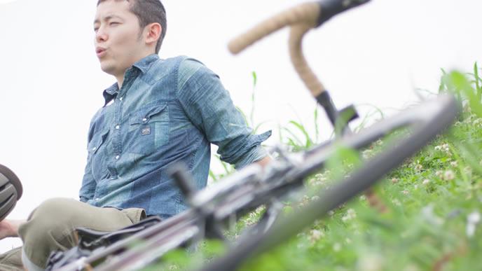 自転車業界に転職を考えている男性