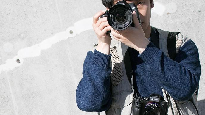 カメラが趣味のクリエイティブな男性