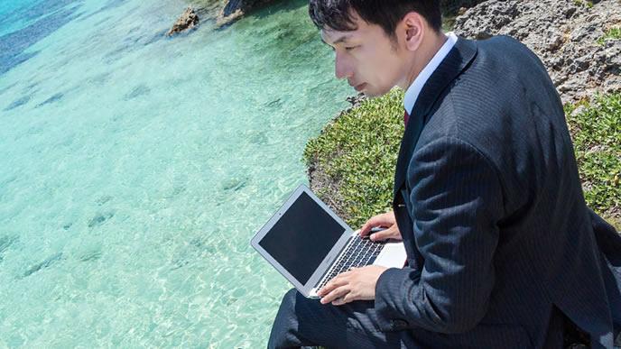 天職を見つける為に仕事探しをしている男性