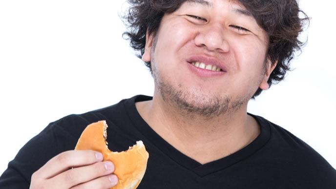 食べることに自信をもった男性