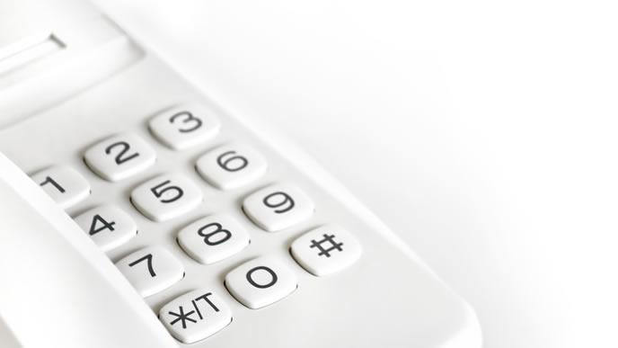 新入社員の研修で使われる電話