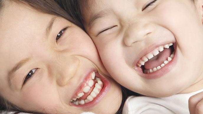元気になる幸せな子供の笑顔