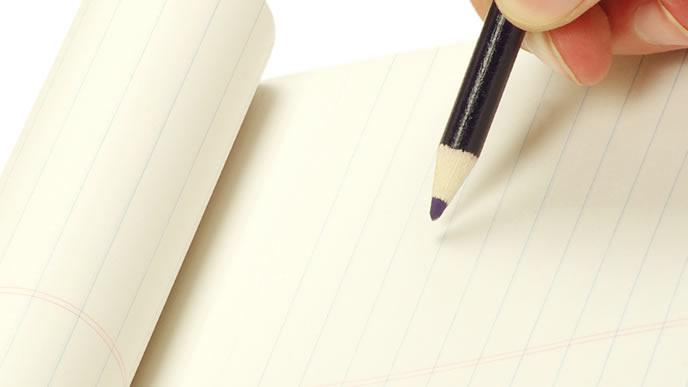 送付状を書くのに必用な紙とペン