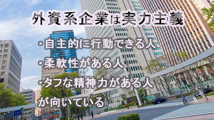 都会に立ち並ぶ外資系企業