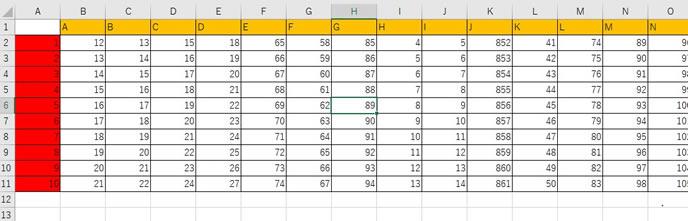 エクセルの分割表示の仕方1