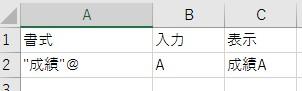 書式の表示方法