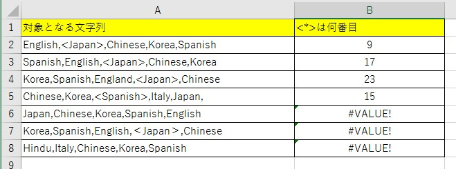 SEARCH関数の使い方3