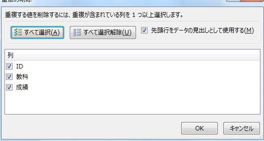 重複データを削除する手順2