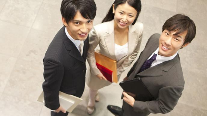 提案営業へ向かうビジネスマン