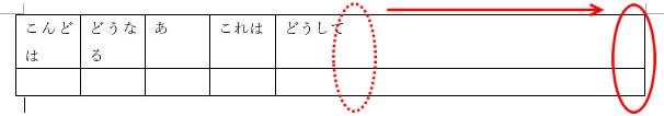 表の幅を広げる方法