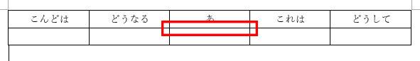 罫線を削除したい表
