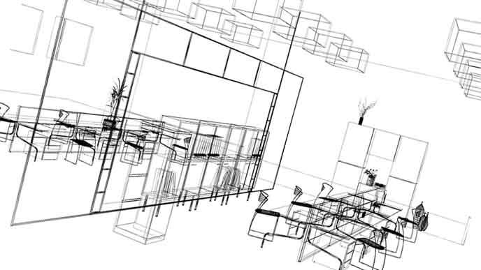 3Dフレームの図面