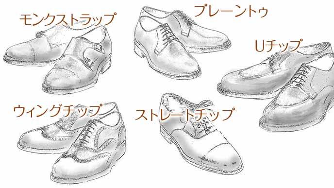 紳士革靴の種類