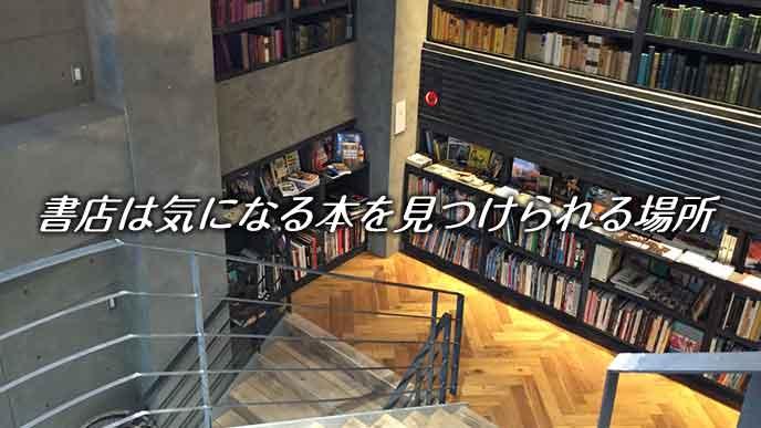 書店の棚に並ぶ本