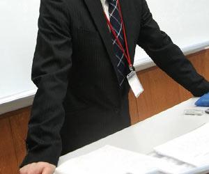 教壇に立つ恩師