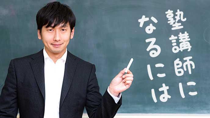 黒板と塾講師