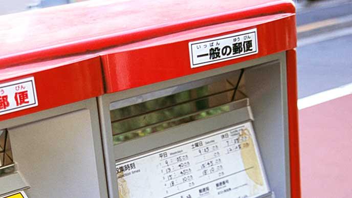 郵便ポストの投函口