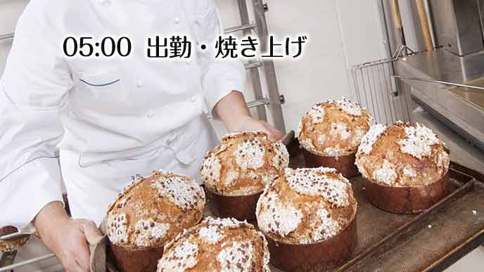 パンの焼き上げ