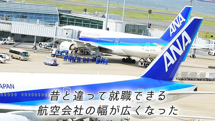 羽田空港第2ターミナルに停まっているANAの飛行機