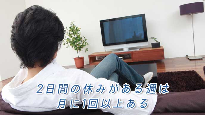 自宅でソファに座りながらテレビを見ている男性