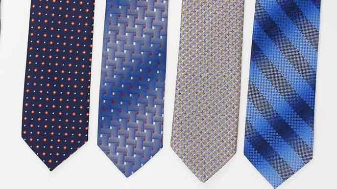 ネクタイの柄見本