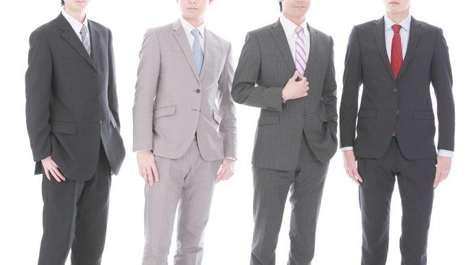 スーツを着た男の人