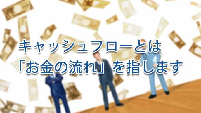 お金とサラリーマンの模型