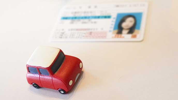 車の運転免許証
