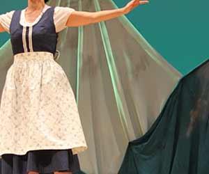 ミュージカルの舞台で歌う役者