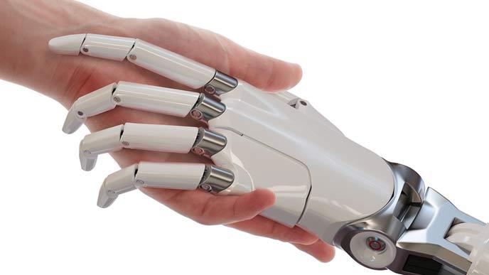 人間とロボットが手を携える