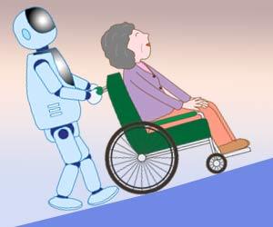 車いすを押すロボット