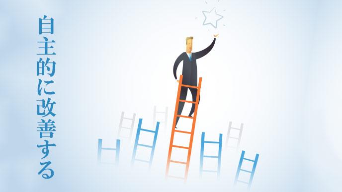 社員が自主的に仕事の改善を図る