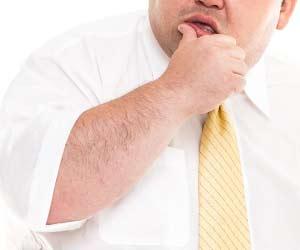 肥満度の高いサラリーマン