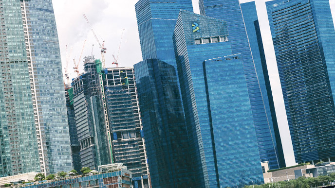 シンガポールのビジネスビル街